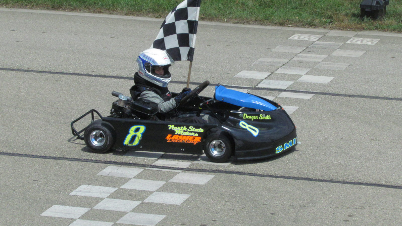 Deegan Smith in victory lane