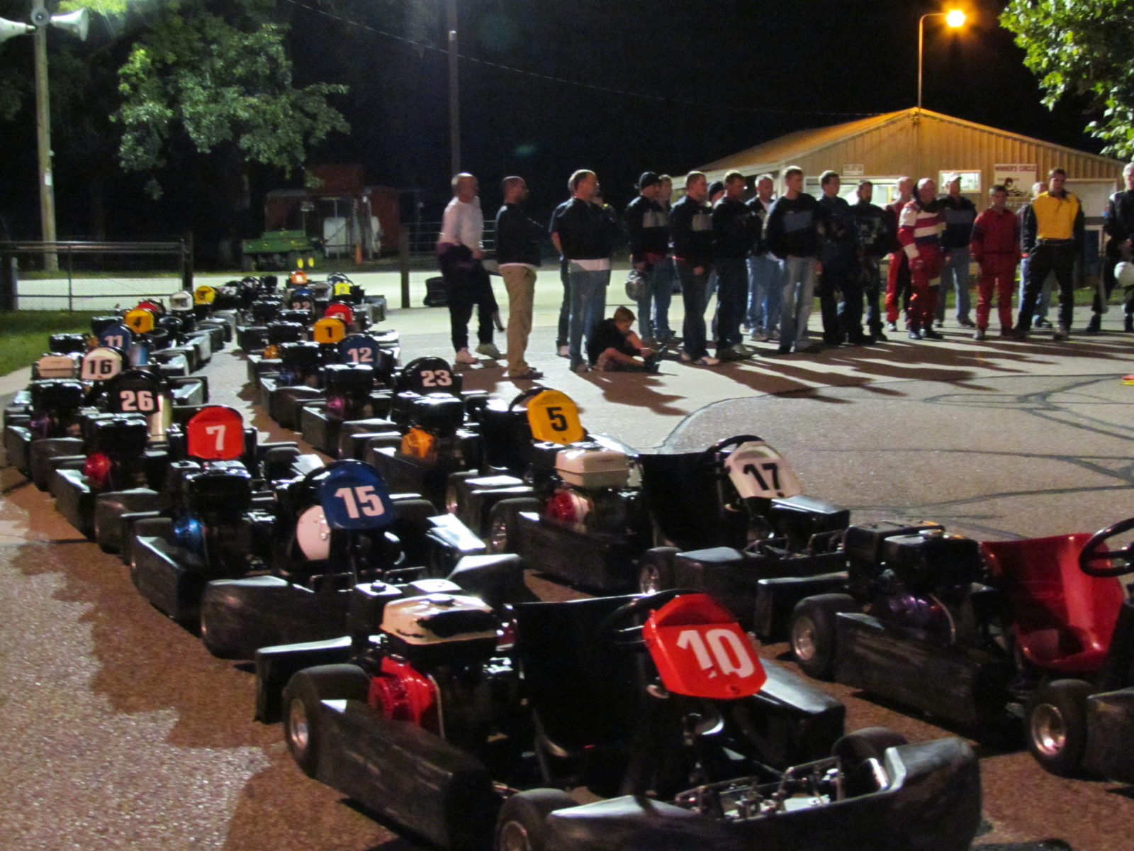 Night time driver's meeting