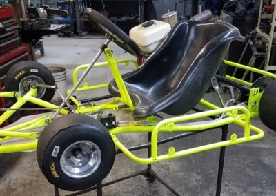 Maxam-neon-yellow-honda-kart-left-side